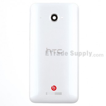 For HTC Butterfly X920d Rear Housing Replacement (International Version) - White - With Logo - Grade S+