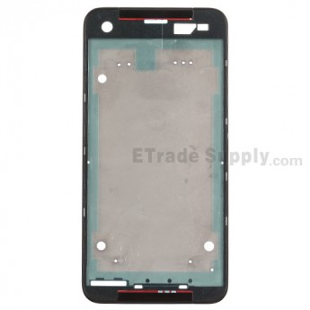 For HTC Butterfly S Front Housing Replacement - Black - Grade S+
