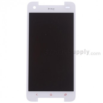 For HTC Butterfly S LCD Screen and Digitizer Assembly with Light Guide Replacement - White - With Logo - Grade S+