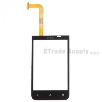 For HTC Desire 200 Digitizer Touch Screen Replacement - Black - With Logo - Grade S+