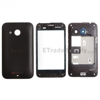 For HTC Desire 200 Housing Replacement - Black - Grade S+