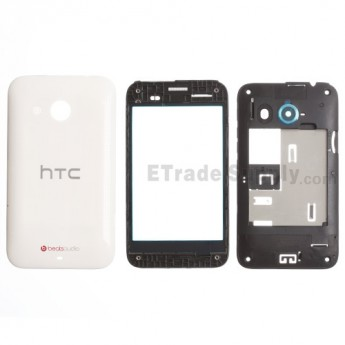 For HTC Desire 200 Housing Replacement - White - Grade S+