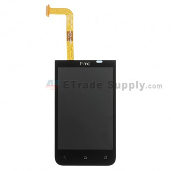 For HTC Desire 200 LCD Screen and Digitizer Assembly Replacement - Black - With Logo - Grade S+