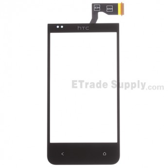 For HTC Desire 300 Digitizer Touch Screen Replacement - Black - With Logo - Grade S+