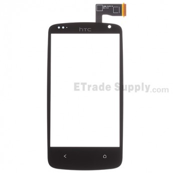 For HTC Desire 500 Digitizer Touch Screen Replacement - Black - With Logo - Grade S+