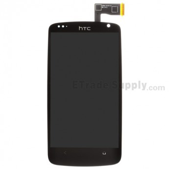 For HTC Desire 500 LCD Screen and Digitizer Assembly Replacement - Black - With Logo - Grade S+