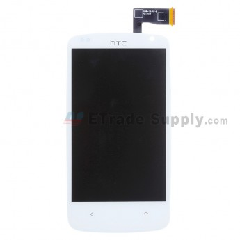 For HTC Desire 500 LCD Screen and Digitizer Assembly Replacement - White - With Logo - Grade S+