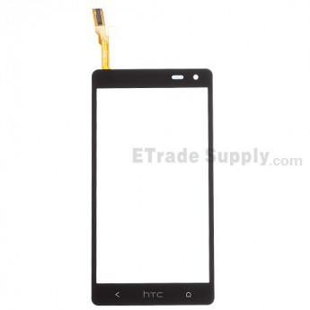 For HTC Desire 600 Digitizer Touch Screen Replacement - Black - With Logo - Grade S+