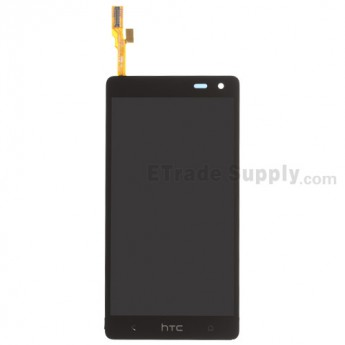 For HTC Desire 600 LCD Screen and Digitizer Assembly Replacement - Black - With Logo - Grade S+