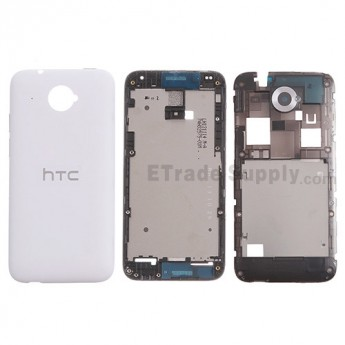 For HTC Desire 601 Housing Replacement - White - With Logo - Grade S+