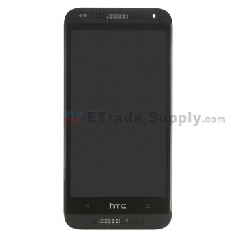 For HTC Desire 601 LCD Screen and Digitizer Assembly With Front Housing Replacement - Black - With Logo - Grade S+