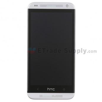 For HTC Desire 601 LCD Screen and Digitizer Assembly With Front Housing Replacement - White - With Logo - Grade S+