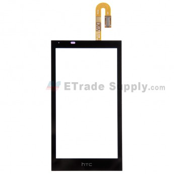 For HTC Desire 610 Digitizer Touch Screen Replacement - Black - With Logo - Grade S+