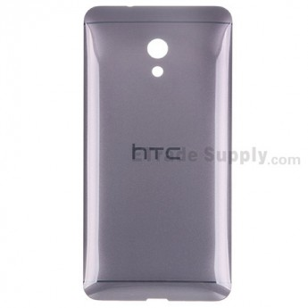 For HTC Desire 700 Dual SIM Battery Door Replacement - Gray - With Logo - Grade S+