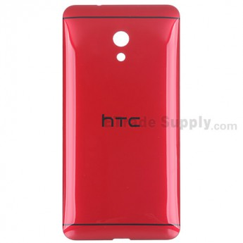 For HTC Desire 700 Dual SIM Battery Door Replacement - Red - With Logo - Grade S+