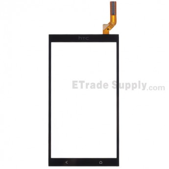 For HTC Desire 700 Dual SIM Digitizer Touch Screen Replacement - Black - With Logo - Grade S+