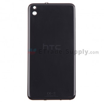 For HTC Desire 816 Battery Door Replacement - Black - With Logo - Grade S+