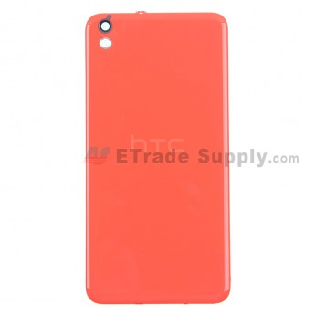 For HTC Desire 816 Battery Door Replacement - Saffron - With Logo - Grade S+