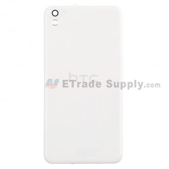 For HTC Desire 816 Battery Door Replacement - White - With Logo - Grade S+