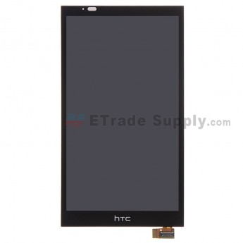 For HTC Desire 816 LCD Screen and Digitizer Assembly Replacement - Black - With Logo - Grade S+