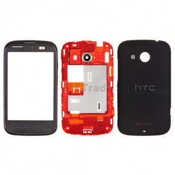 For HTC Desire C Complete Housing Replacement ,Black - Grade S+