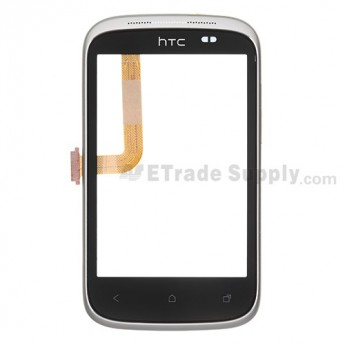 For HTC Desire C Digitizer Touch Screen with Front Housing Replacement ,White - Grade S+