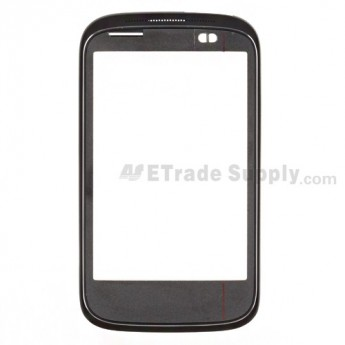 For HTC Desire C Front Housing Replacement - Black - Grade S+