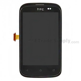 For HTC Desire C LCD Screen and Digitizer Assembly with Front Housing  Replacement (No Light Guide)  - Grade S+