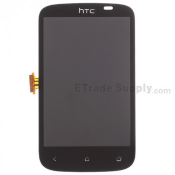 For HTC Desire C LCD Screen and Digitizer Assembly without Light Guide Replacement - Black - With Logo Only - Grade S+