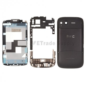 For HTC Desire S Complete Housing Replacement ,Black - Grade S+