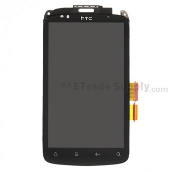 For HTC Desire S LCD Screen and Digitizer Assembly with Front Housing and Light Guide Replacement - Wide Flex Cable - Grade S+