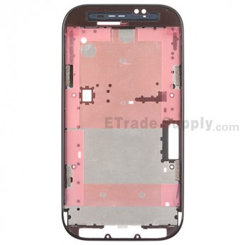 For HTC Desire SV Front Housing Replacement - Black - Grade S+