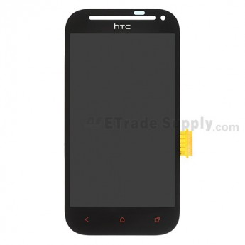 For HTC Desire SV LCD Screen and Digitizer Assembly with Light Guide Replacement (Solid) - Black - With Logo - Grade S+
