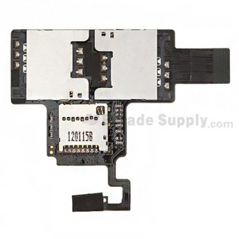 For HTC Desire V T328W SIM Card and SD Card Reader Contact  Replacement - Grade S+