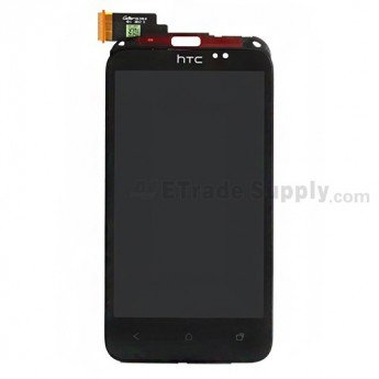 For HTC Desire VC T328D LCD Screen and Digitizer Assembly with Front Housing and Light Guide Replacement - Grade S+
