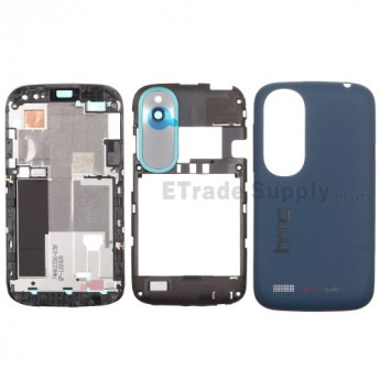 For HTC Desire X Housing Replacement ,Blue - Grade S+
