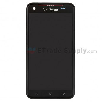 For HTC Droid DNA LCD Screen and Digitizer Assembly with Front Housing and Light Guide Replacement - Grade S+