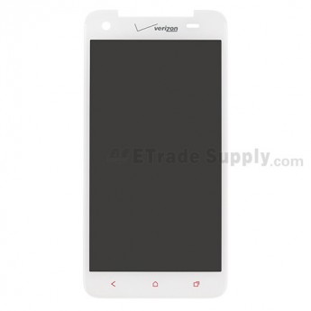 For HTC Droid DNA LCD Screen and Digitizer Assembly without Light Guide Replacement -White- With Logo - Grade S+