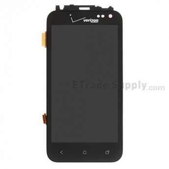 For HC Droid Incredible 4G LTE LCD Screen and Digitizer Assembly with Front Housing Replacement - Grade S+