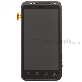 For HTC EVO 3D LCD Screen and Digitizer Assembly with Front Housing Replacement - Without Logo - Grade S+