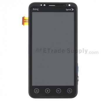 For HTC EVO 3D LCD Screen and Digitizer Assembly with Front Housing Replacement - With Logo - Grade A