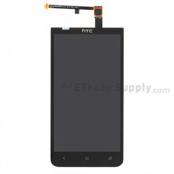 For HTC EVO 4G LTE LCD Screen and Digitizer Assembly with Light Guide Replacement - Black - Grade A