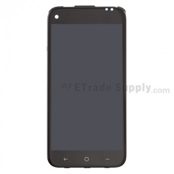 For HTC First LCD Screen and Digitizer Assembly with Front Housing  Replacement - Black - Grade S+