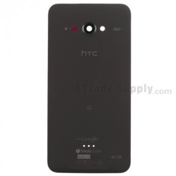 For HTC J Butterfly Rear Housing Replacement (Japan Version) - Black - With Logo - Grade S+
