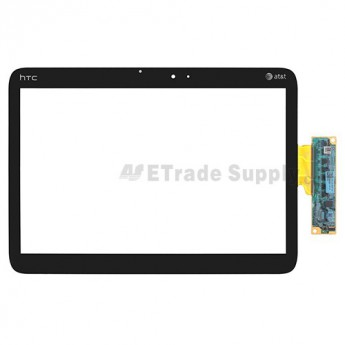 For HTC Jetstream Digitizer Touch Screen Replacement - Black - With Logo - Grade S+