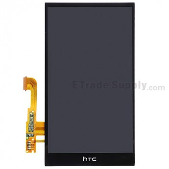 For HTC One E8 LCD Screen and Digitizer Assembly Replacement - Black - With Logo - Grade S+