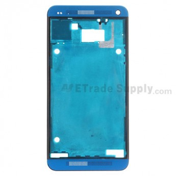 For HTC One Front Housing  Replacement (International Version) - Turquoise - Grade S+
