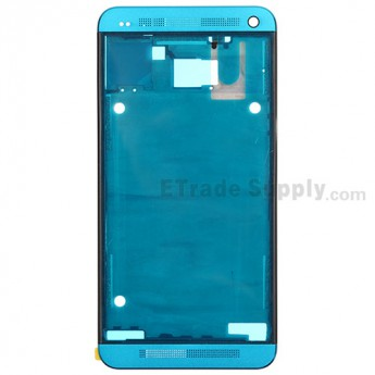 For HTC One Front Housing Replacement (International Version) - Light Blue - Grade S+