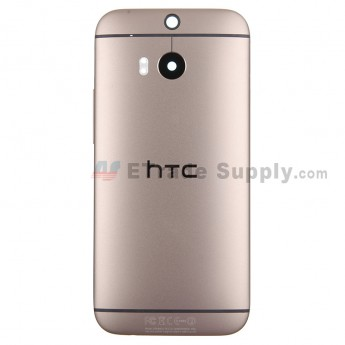 For HTC One M8 Rear Housing Replacement (Gold) - With Logo - With Words - Grade S+