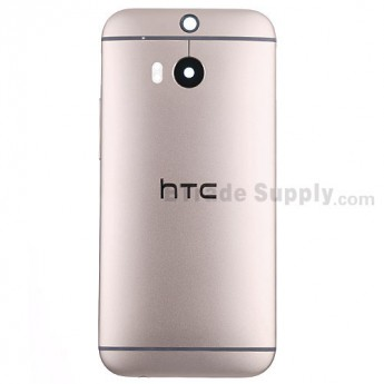 For HTC One M8 Rear Housing Replacement (Gold) - With Logo - Without Words - Grade S+